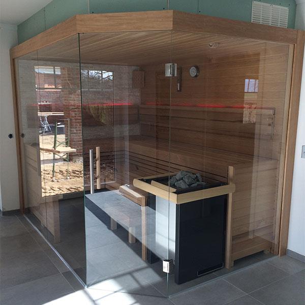 Neubau einer finnischen Sauna